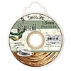 Rattail Cord 1.5mm 20 Yds With Re-useable Bobbin Gold Bronze